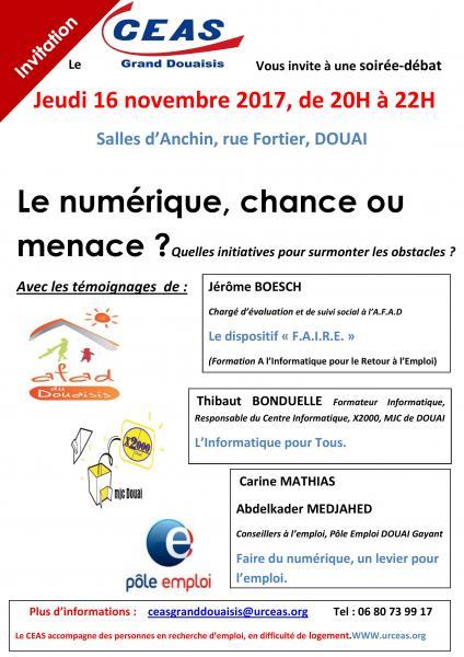 Soiree Debat Par Le Ceas Grand Douaisis Le 16 Novembre A Douai